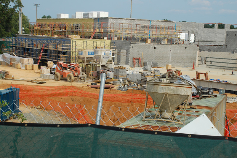 Looking at the back of the gym area from George Mason